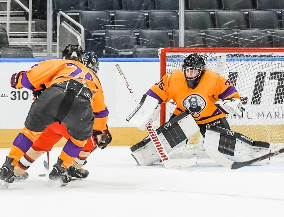 Kyla playing hockey in Edmonton, Alberta